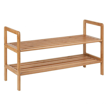 Bamboo 2-Tier Shoe Shelf